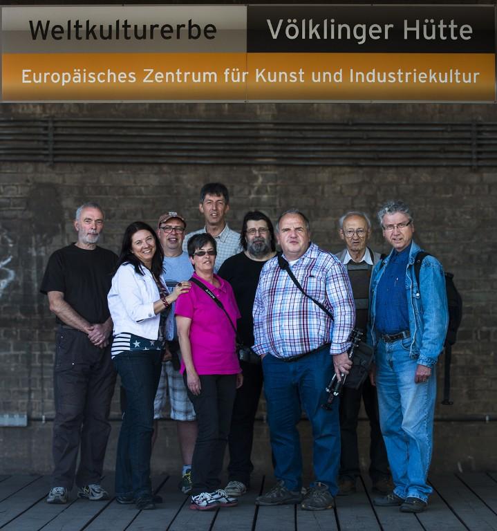 Teilnehmer der Hüttenexcursion