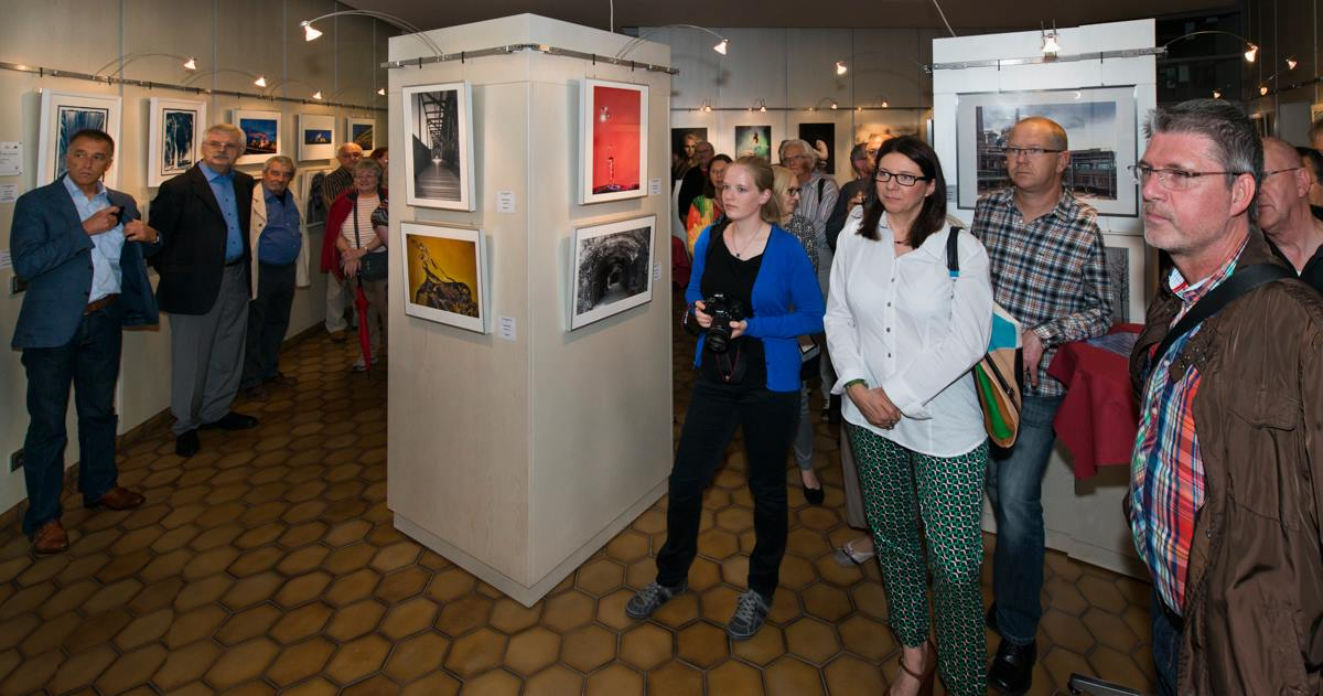 Die Vernissage unserer Autorenausstellung 2014 im Alten Rathaus Völklingen