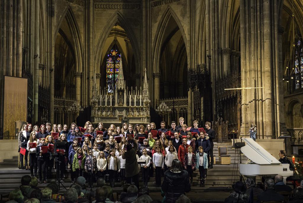 Schülerchor aus Luxemburg in der Cathédrale Saint-Etienne in Metz